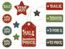 De markeringen van de verkoop royalty-vrije illustratie