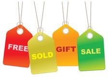 De Markeringen van de Verkoop van het karton Royalty-vrije Stock Afbeeldingen