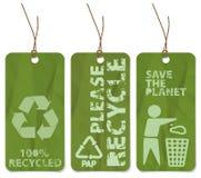 De markeringen van Grunge voor recycling stock illustratie