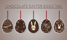 De markeringen van het chocoladepaasei Stock Afbeeldingen