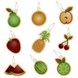 De markeringen van het fruit Stock Foto