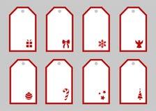 De markeringen van de Kerstmisgift Inzameling van Kerstmisetiketten De vectorinzameling van de Kerstmismarkering Vector Geïsoleer royalty-vrije stock foto's