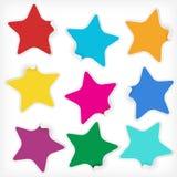 De markeringen van kleurenstickers voor om het even welke bevordering Royalty-vrije Stock Afbeeldingen