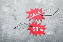 De markeringen van de verkoop Royalty-vrije Stock Afbeelding