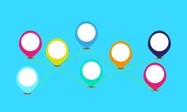 De markeringenachtergrond van de informatie grafische kleur Stock Afbeelding