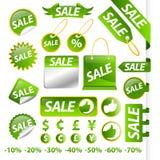 De markeringsinzameling van de verkoop Stock Foto