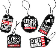 De markeringsreeks van de Cybermaandag, vectorillustratie Stock Foto
