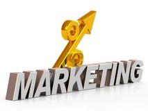 De marketing en de percenten van het symbool Stock Afbeeldingen
