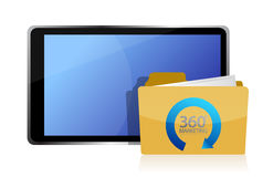 De marketing van 360 en tablet Royalty-vrije Stock Afbeeldingen