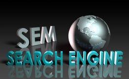 De Marketing van de Motor van het onderzoek royalty-vrije illustratie