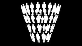 De marketing van het Diagram van de Trechterverkoop met Mensen royalty-vrije illustratie