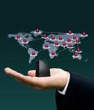 De marketing van het netwerk, het concept van de Technologie Stock Afbeeldingen