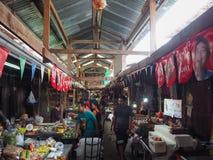 De marketing van 100 jaar in Chachoengsao, Thailand Royalty-vrije Stock Foto's
