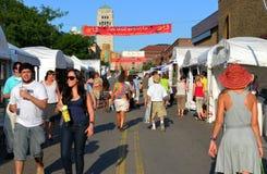 De Markt 2011 van de Kunst van het Gebied van de Straat van de Staat van Ann Arbor Stock Fotografie