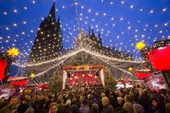 De markt Duitsland van Kerstmis Stock Afbeelding