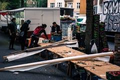 De markt is over Stock Foto's