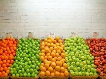 De markt van appelen Stock Foto's