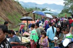 DE MARKT VAN AZIË THAILAND CHIANG MAI CHIANG DAO Royalty-vrije Stock Afbeeldingen