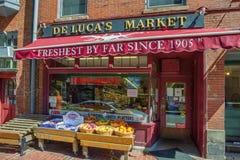 De Markt van Beacon Hill DE Luca ` s Royalty-vrije Stock Foto's