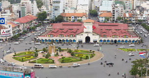De markt van Ben thanh Stock Afbeelding