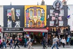 De markt van Camden in Londen het UK royalty-vrije stock foto's