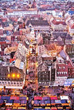 De Markt van Chirstmas van Straatsburg Stock Fotografie