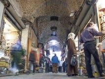 Bazaar in aleppo Syrië Stock Afbeeldingen