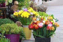 De markt van de bloem Stock Foto's