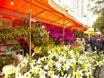 De markt van de bloem in District Haizhu Stock Afbeelding