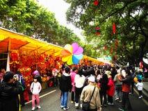 De markt van de bloem in District Haizhu Royalty-vrije Stock Afbeeldingen