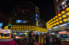 De markt van de Keelungnacht Stock Afbeeldingen