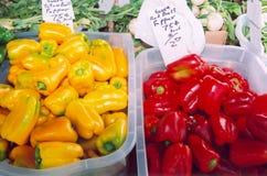 De Markt van de landbouwer Stock Foto