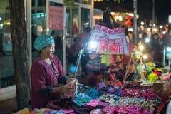 De markt van de nacht in Chiang MAI, Thailand Stock Foto