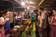 De markt van de Nacht van Prabang van Luang Royalty-vrije Stock Afbeeldingen
