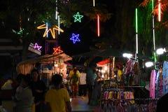 De Markt van de nachttempel Stock Fotografie