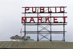 De Markt van de snoekenplaats, Seattle, Washington Stock Fotografie