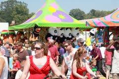 De Markt van de Staat van Iowa: menigte stock foto's