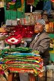De markt van de straat in India stock foto's