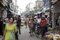 De Markt van de Straat van Ho-Chi-Minh-Stad Stock Afbeelding