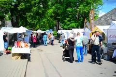 De markt van de Trakaistad op stadsdag op 31 Mei, 2015 Stock Fotografie