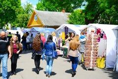 De markt van de Trakaistad op stadsdag op 31 Mei, 2015 Royalty-vrije Stock Foto's
