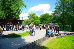 De markt van de Trakaistad op stadsdag op 31 Mei, 2015 Royalty-vrije Stock Fotografie