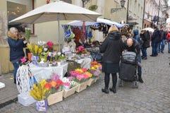 De markt van de Vilniusstraat stock fotografie