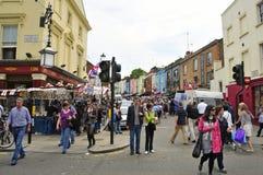 De Markt van de Weg van Portobello in Londen, het Verenigd Koninkrijk Royalty-vrije Stock Afbeelding