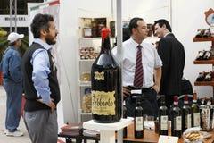 De markt van de wijn Stock Foto's
