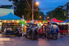 De Markt van de zaterdagnacht, Chiang Mai, Thailand Royalty-vrije Stock Foto's