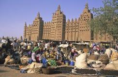 De Markt van Djenné Stock Afbeeldingen