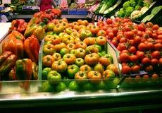 De markt van groenten Stock Foto's