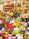 De markt van het aardewerk Stock Foto