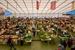 De markt van het Cascaisvoedsel is de plaats om te gaan als u verse lokale opbrengst en vissen wilt De bezigste dagen zijn Woensd Stock Afbeelding
